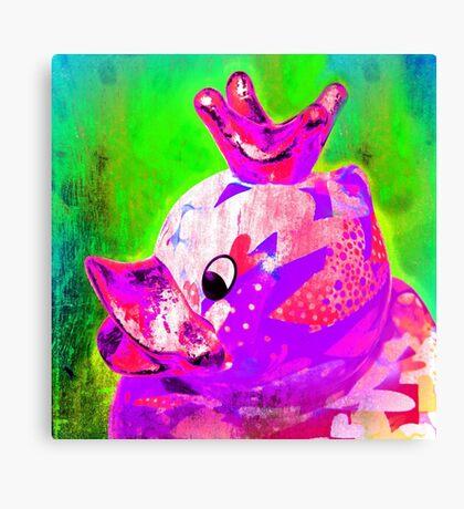 THE DUCK KING, AVEC CROWN Canvas Print