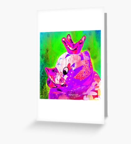 THE DUCK KING, AVEC CROWN Greeting Card