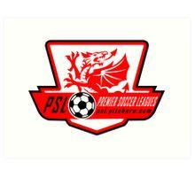 Premier Soccer Leagues Badge Art Print