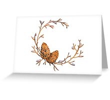 Watercolor Pine Cone Frame Greeting Card