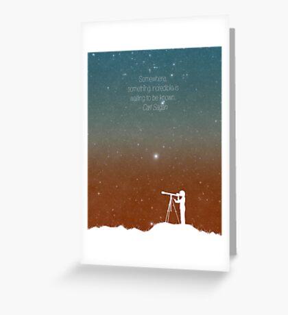 Through the Telescope Greeting Card