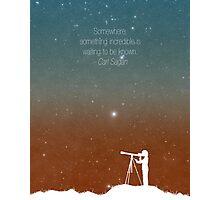 Through the Telescope Photographic Print
