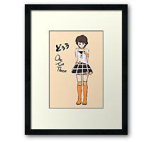 Kudo Haruka - One.Two.Three Framed Print