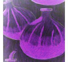 Black and purple passionfruit Photographic Print