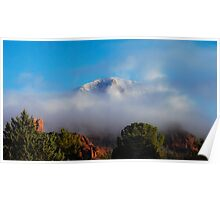Snow Capped Thunder Mountain Sedona Arizona Poster