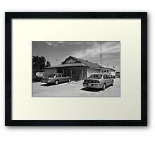 Route 66 - Old Log Cabin Framed Print