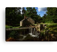 Canal house at Waterloo Village Canvas Print