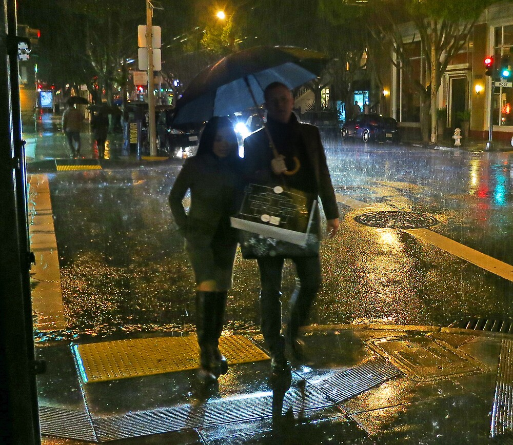 Walking in the Rain by David Denny