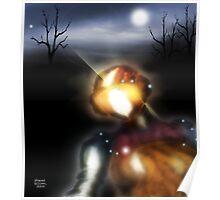 Metallic Robot at Dusk Poster