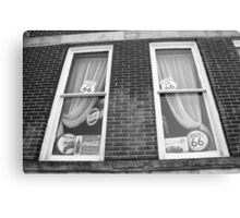 Route 66 - Windows and Drapes Canvas Print