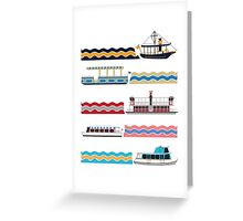 Watercraft Transportation System Greeting Card