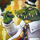 Alligator in Top Hat I by David Mueller