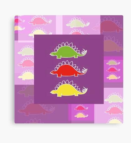 BEHOLD ...  THE DEADLY STEGOSAURUS RAMPAGE Canvas Print