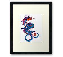 Eastern Dragon Doodle Framed Print