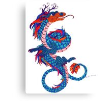 Eastern Dragon Doodle Canvas Print