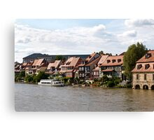 Little Venice in Bamberg Canvas Print