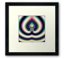 Psychedelic Heart Framed Print