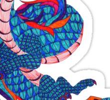 Eastern Dragon Doodle Sticker