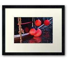 New Seeker Buoys Framed Print
