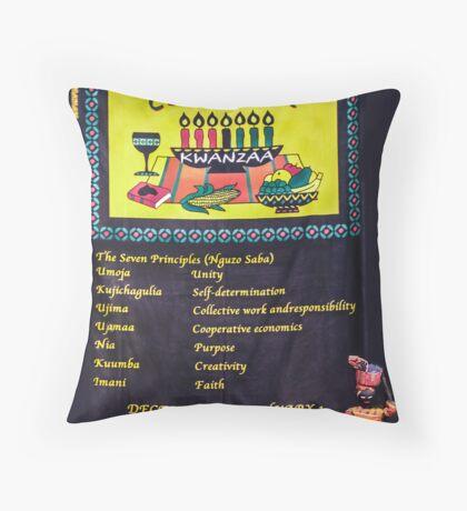 Kwanzaa-The 7 Principles Throw Pillow