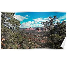Distant Mountains Sedona, Arizona Poster