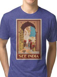 Vintage poster - India Tri-blend T-Shirt