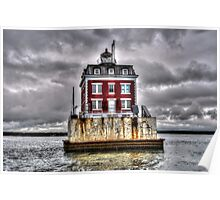 New London Ledge Lighthouse (Color) Poster