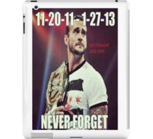 CM Punk-Never Forget iPad Case/Skin