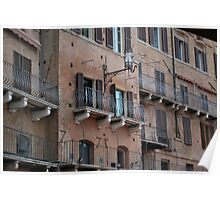 Medieval Townhouse in Siena Poster