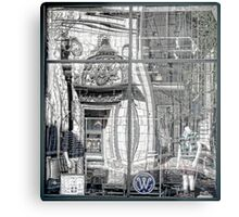 A Twist of Memory in a Storefront Reflection  Metal Print