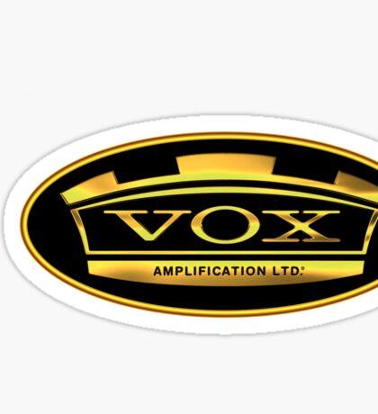 Gold Vox Amp Sticker