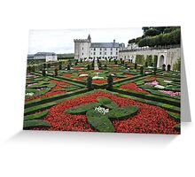 Chateau Villandry Gardens Greeting Card
