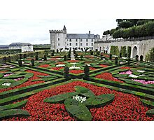 Chateau Villandry Gardens Photographic Print