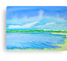Clouds Rising over Bolsa Chica Canvas Print