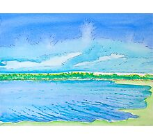 Clouds Rising over Bolsa Chica Photographic Print