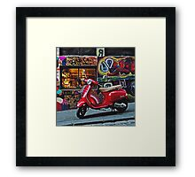 Vespa on Hosier Framed Print