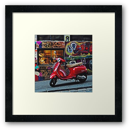Vespa on Hosier by Daniel Fisher