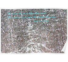 Snow--Psalm 147:16 Poster