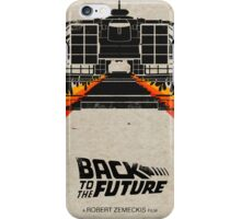 Back To The Future minimalist iPhone Case/Skin