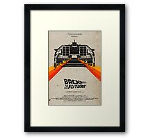 Back To The Future minimalist Framed Print