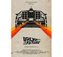 Back To The Future minimalist Photographic Print
