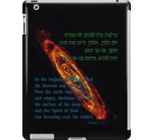 In the beginning God created the heavens and the earth iPad Case/Skin