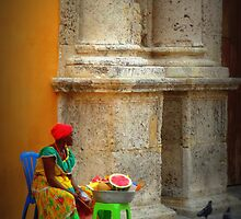 Caribbean lady of Cartagena  by Beclund