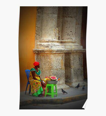 Caribbean lady of Cartagena  Poster
