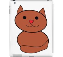 Brown Kawaii Cat iPad Case/Skin