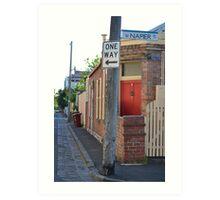 South Melbourne Streetscape Art Print