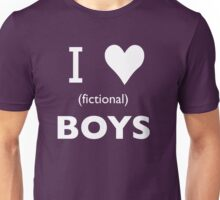 I love (fictional) boys Unisex T-Shirt