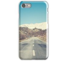 Road with mountain iPhone Case/Skin