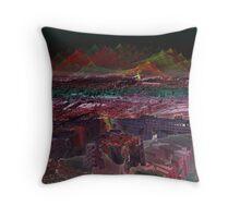 Ancient Mars City Ruins Throw Pillow