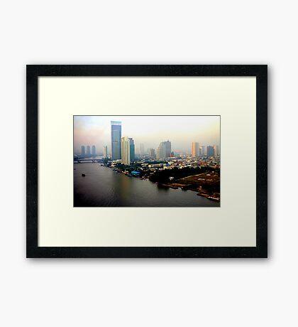 Bangkok in Early Morning Light Framed Print